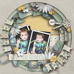 Single page ~ graduated jumbo circles; two photos