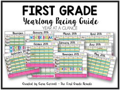 The First Grade Parade: Year Long Planning & Pacing Guide (K & 1st Grades)