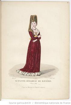 Mode Moyen-Age Middle Age Fashion, European Dress, Portraits, Medieval Costume, Medieval Times, Historical Costume, 14th Century, Fashion Plates, Fashion History