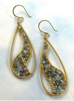 Twisters RESERVED for Sheila by twotightlywound on Etsy Bijoux Wire Wrap, Wire Wrapped Earrings, Wire Earrings, Earrings Handmade, Handmade Jewelry, Wire Bracelets, Copper Bracelet, Metal Jewelry, Beaded Jewelry