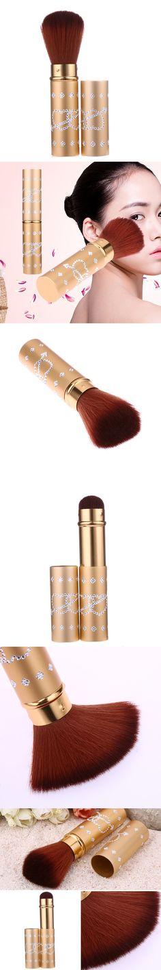 Portable Makeup Blusher Brush Retractable Cosmetic Powder Soft Nylon Hair Foundation Brush Beauty Tool
