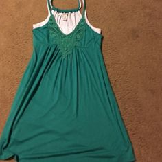 teal summer dress perfect for summer/spring ! American Rag Dresses