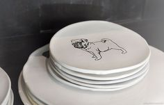 NotQuiteSnowWhite.com - who let the gogs out? isn't the plate doglicious?