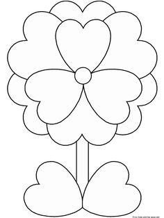 free valentine coloring pictures to print off | Print out Valentine's Day Flower coloring pages - Free Printable ...