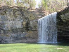 Waterfall on Cumberland Lake in Kentucky