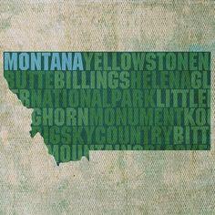 Montana Textual Art