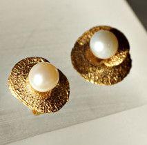 Silberohrstecker vergoldet mit Perlen