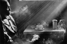 "Harold Feinstein, ""Man Smoking in 14th Street Diner"" (1970)"