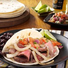 Steak Fajitas Recipe from Taste of Home -- shared by Rebecca Baird of Salt Lake City, Utah