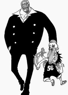 ONE PIECE Garp & Luffy