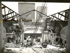Demolition of the Capitol Theatre 1971 Movie Theater, Theatre, Capital Of Canada, Ottawa Canada, Photo Archive, Palaces, Brooklyn Bridge, Ontario, Past