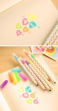 Magic Erasable Highlighter Correctible pens Erasable by TodTots