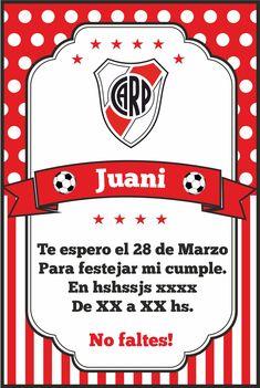 Invitación. Fútbol. Soccer. River Plate.