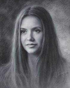 Nina Dobrev Drawing by Dry Brush by Drawing-Portraits on DeviantArt
