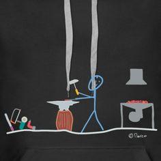 Strichmännchen Stick figure   Schmied Strichmännchen Metall Handwerk Arbeit Job - Frauen Premium Hoodie Outdoor Survival Gear, Rugs On Carpet, Carpets, Stick Figures, Cloth Bags, Finding Yourself, Bts Stuff, Beautiful, Cool Stuff
