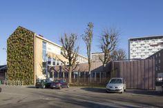 Musical Academy in La Madeleine (France) by Hart Berteloot   #Architecture #Project #MusicalAcademy #France #Zinc #VMZINC #Facade #Pigmento