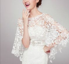 Hey, I found this really awesome Etsy listing at https://www.etsy.com/listing/207888673/bridal-lace-bolero-bridal-lace-cape