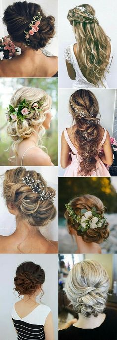 Top 20 Wedding Hairstyles Ideas for 2017 . - Top 20 Wedding Hairstyles Ideas for 2017 Trends # Hairstyles # Ideas … - Wedding Hairstyles For Long Hair, Wedding Hair And Makeup, Unique Hairstyles, Down Hairstyles, Pretty Hairstyles, Hair Makeup, Hairstyle Ideas, Wedding Hairdos, Curly Hair Styles Wedding