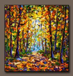 Buy painting Dream Forest Landscape - original painting for sale by Rybakow Forest Landscape, City Landscape, Landscape Paintings, Bright Paintings, Buy Paintings, Oil Painting Flowers, Artist Painting, Wooded Landscaping, Original Paintings For Sale