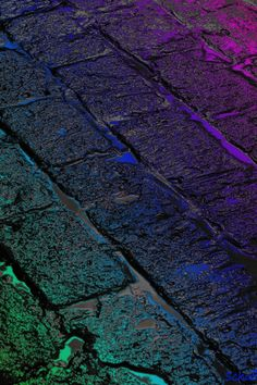 wet cobblestones - at the west end , bangalore ? We Happy Few, Beautiful Places, Beautiful Pictures, Neon Painting, Love Rain, Brick Pavers, Yellow Brick Road, All Things Purple, Color Shapes