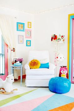 We're always looking to celebrity nurseries for inspiration, because they always have their finger on the pulse of what makes for stylish and fun baby sanctuaries.