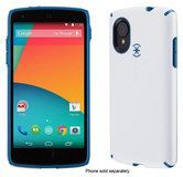 Speck - CandyShell Case for LG Nexus 5 Cell Phones - White/Deep Sea Blue
