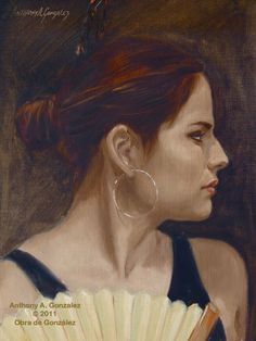 There is no other with the touch for painting a woman than Anthony A Gonzalez from Texas.  His work captures the delicacy and the strength in every woman he paints.