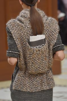Knitted backpacks to carry all your @CHANEL desires. #PFW #AW15