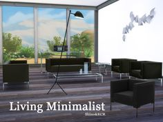 Living Minimalist by ShinoKCR at TSR via Sims 4 Updates