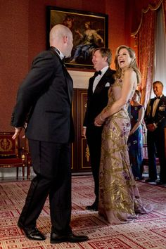 28/04/2017, queen Máxima in a beautiful new gown by dutch designer Jan Taminiau.