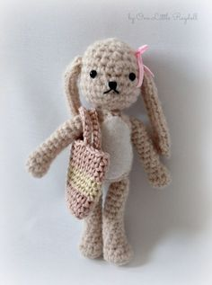 Amigurumi Bunny pattern in English Crochet Bunny Pattern, Crochet Rabbit, Crochet Patterns, Crochet Stitch, Free Crochet, Knit Crochet, Double Crochet, Hello Kitty, Teddy Bear