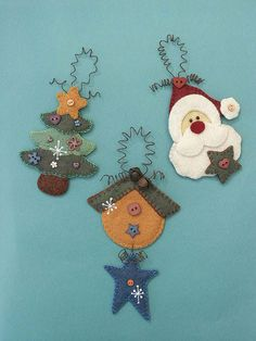 Looking for your next project? You're going to love Xmas Tree Hangers Felt Pattern - PDF by designer Raggy Dolls. Christmas Ornament Template, Christmas Templates, Vintage Christmas Ornaments, Snowman Ornaments, Felt Ornaments Patterns, Felt Crafts Patterns, Handmade Ornaments, Christmas Projects, Christmas Crafts