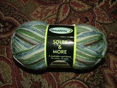 Jo-Ann Sensations Soles & More Sock Yarn Color No 1138 Lot No 500 Made in Turkey Crochet Knit by 3CsTwistedStitchers on Etsy