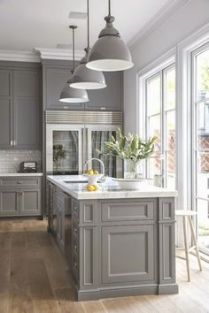 Grey Modern | Kitchens, Gray kitchens and Middle