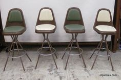 Mid Century Modern Bar Stools in 17 Brook St, Staten Island, NY USA ~ Apartment Therapy Classifieds Modern Bar Stools, Staten Island, Store Hours, Apartment Therapy, Vintage Furniture, Mid-century Modern, Dining Chairs, Mid Century, Usa