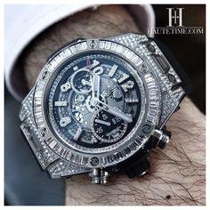 Hublot Big Bang Unico Chronograph Titanium Watch, High Jewelry piece.