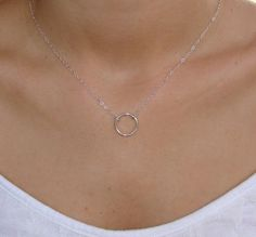 Sterling Silver  Eternity Circle Necklace - Small Circle, Infinity , Mom, Sister, Daughter, Girlfriend, Wife, Great Gift for her. $32.00, via Etsy.