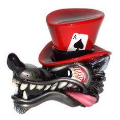 Red Gambler Poker Wolf Custom Gearstick Resin Gear Knob Stick American Mercury   eBay