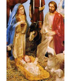 Fiberglass Holy Family Nativity Set   All American Christmas Co