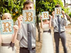 A perfect DIY project to make up these small signs...It looks magical on the photo!!