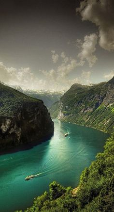 Geiranger Fjord in Norway • photo: Faisal! on Flickr