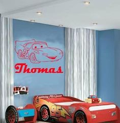 NEW Personalized Disney CARS Lightning McQueen Vinyl Wall Decal - Lightning mcqueen custom vinyl decals for car