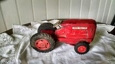 Old Toy Metal Farm Tractor