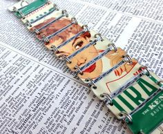 LOVE this!!!!!! Upcycled bracelet made from a vintage Curad tin by PerfectTin, $75.00