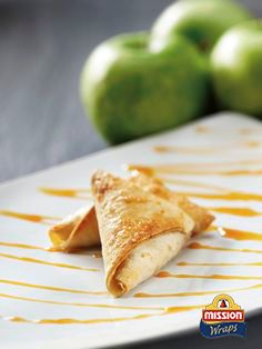 #missionwraps #wraps #food #inspiration #meal #sweet #dessert #apple #toffi www.missionwraps.es
