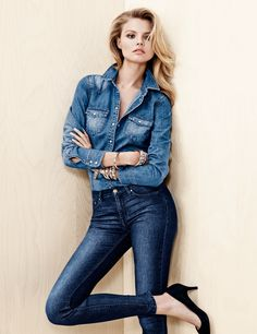 Magdalena Frackowiak Wears Denim on Denim for H&M Trend Update
