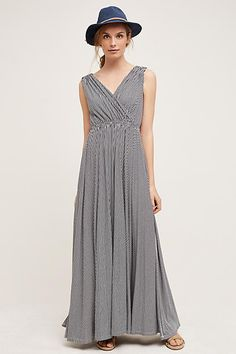 6/2016 I just bought this and love it. Perfect maxi.  Subtle pattern, defined waist and it drapes beautifully.