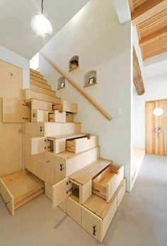 Wooden Staircase Apartment Decorating Ideas