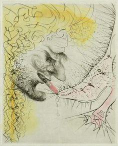 Salvador Dali, Man Kissing Shoe, Engraving on Paper, Limited Edition Spanish Painters, Spanish Artists, Dali Artwork, Salvador Dali Art, Modern Artists, Rembrandt, Surreal Art, Medium Art, Art History