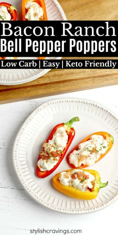 Factors You Need To Give Thought To When Selecting A Saucepan Low Carb Bacon Ranch Bell Pepper Poppers Low Carb Recipes, Diet Recipes, Snack Recipes, Healthy Recipes, Clean Recipes, Yummy Recipes, Low Carb Appetizers, Appetizer Recipes, Appetizer Party